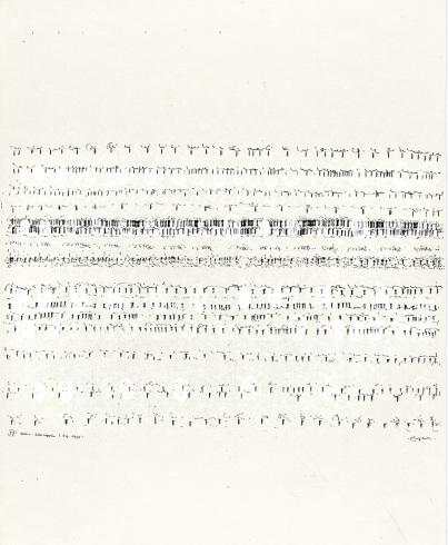 1975,Tusche und Acryl auf Japanpapier, 62,5 x 49,3 cm