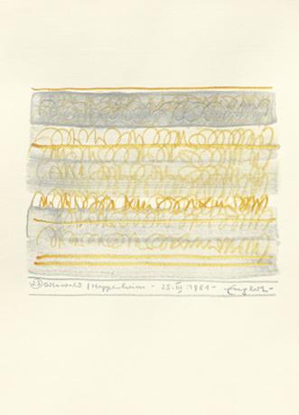 Odenwald, 1981, Farbstift und Acryl auf Papier, 29,5 x 21 cm