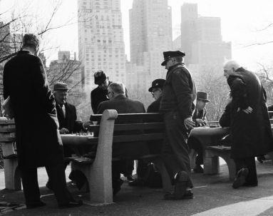 New York, Schachspieler im Central Park, 1963