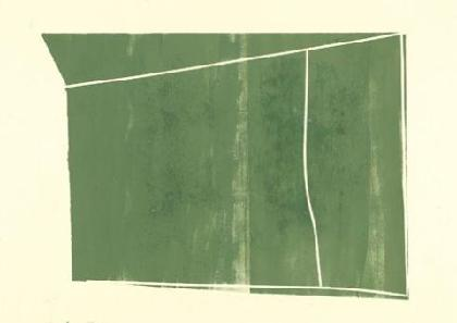 Tsukiyama Garten III, Museum of Art, Kanazawa, 2002, Öl auf Karton, 42 x 59 cm